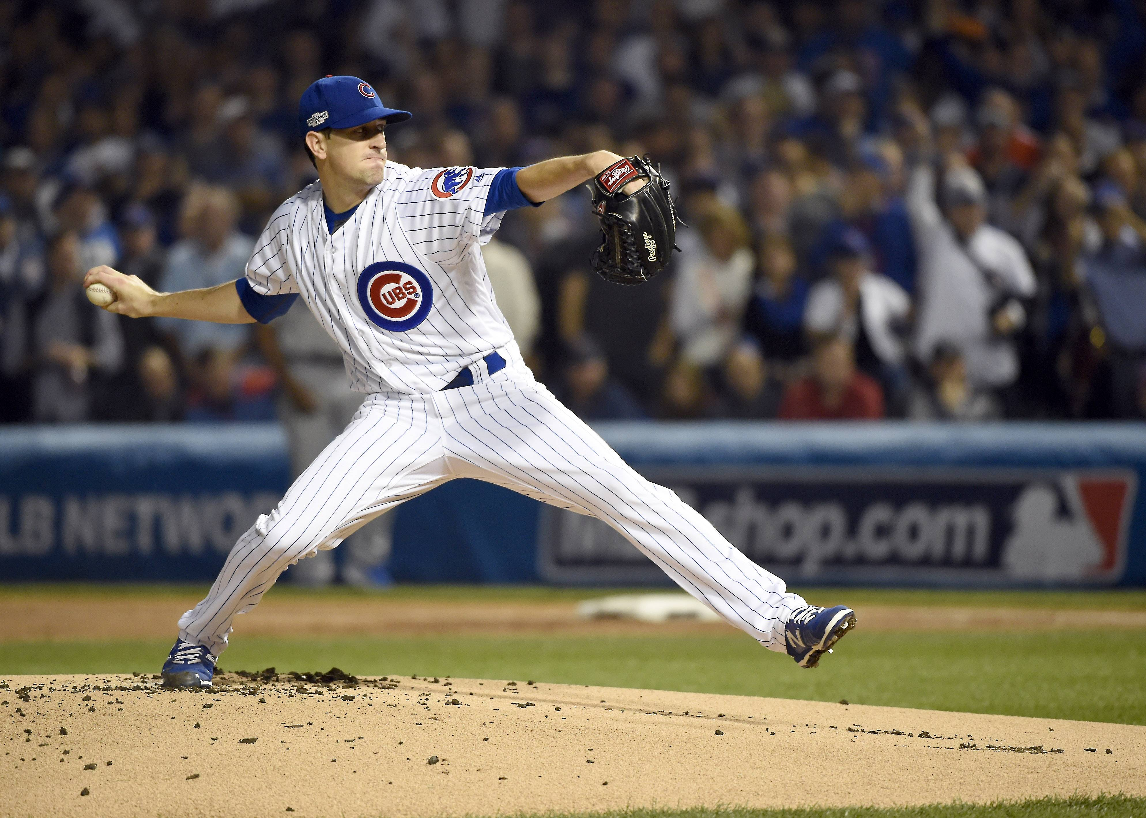 Cubs starting pitcher Kyle Hendricks was masterful in Game 6 of the NLCS. The Cubs have a deep rotation and it should be an advantage in Game 3 of the World Series on Friday when Hendricks starts against Cleveland Indians right-hander Josh Tomlin.