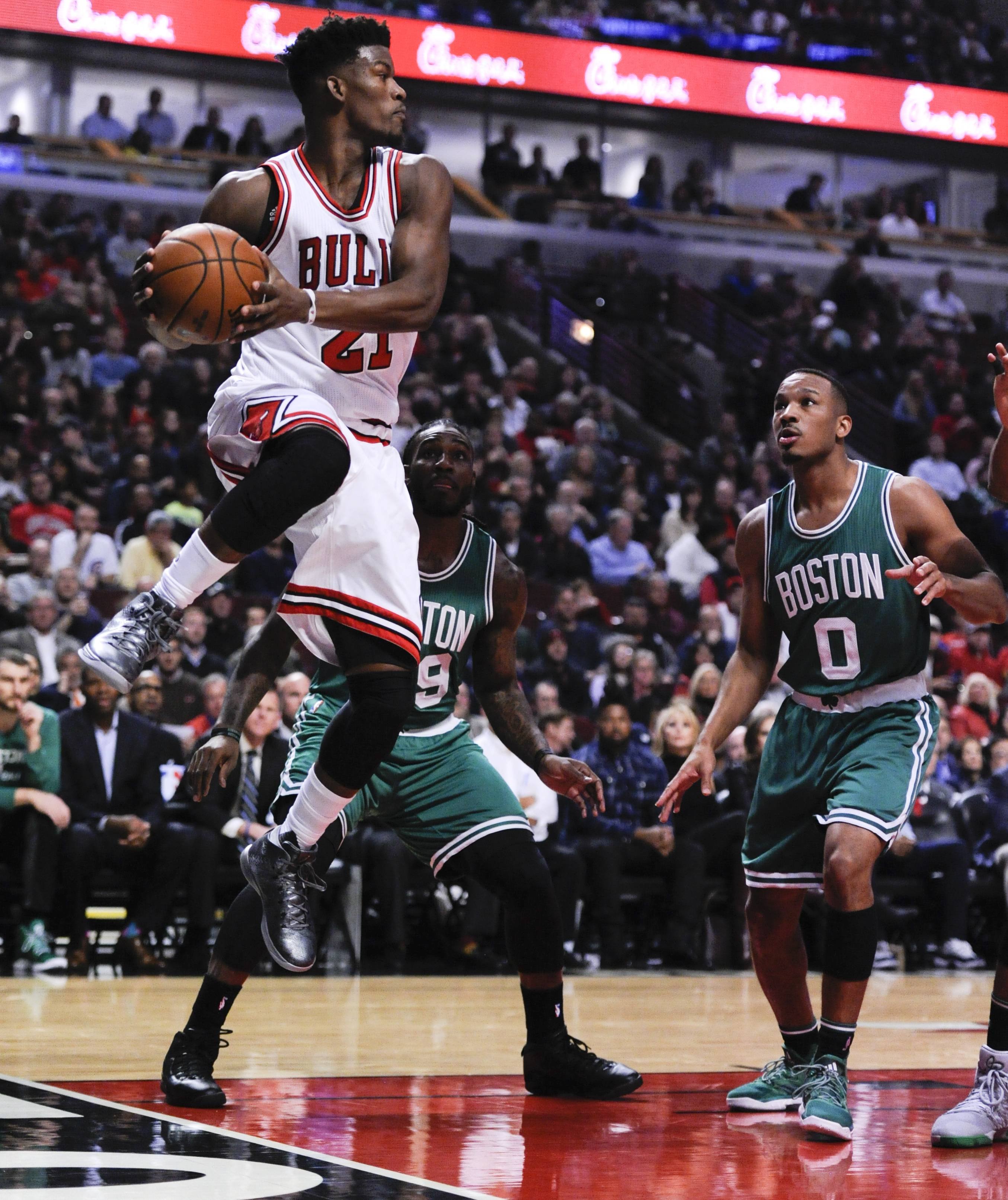 After scoring 24 points to lead the Chicago Bulls to a season-opening victory over Boston, Jimmy Butler appreciated the fight shown by his teammates, especially when Butler mixed it up with a former college teammate.