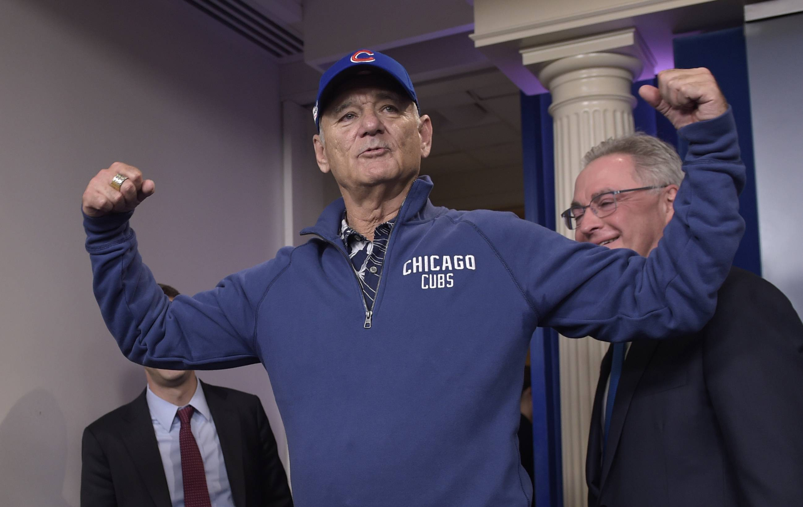 "Actor/comedian Bill Murray will lead the 7th inning stretch and sing ""Take Me Out To The Ballgame"" at Game 3 of the World Series at Wrigley Field on Friday night."