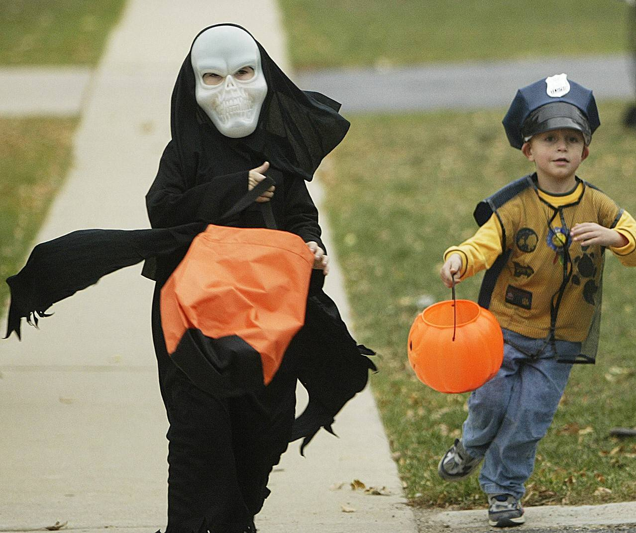 Get your candy ready -- Halloween will bring trick-or-treaters out mostly Monday afternoon, though Sunday afternoon in some cases.