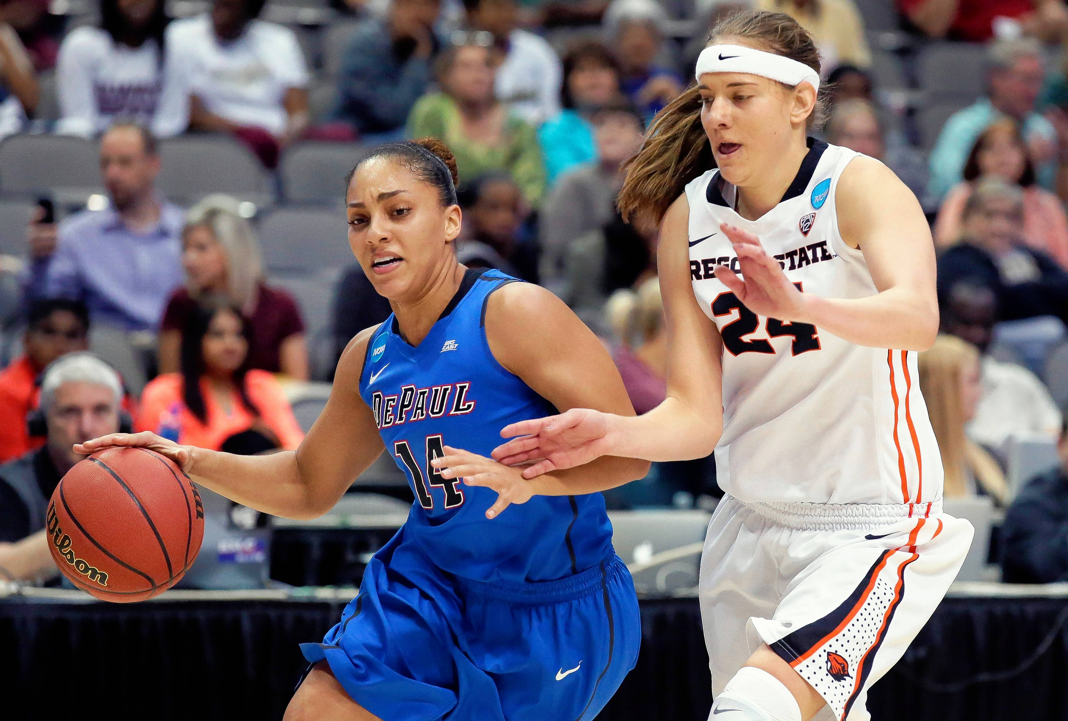 DePaul guard Jessica January, left, was recently voted Big East preseason player of the year.