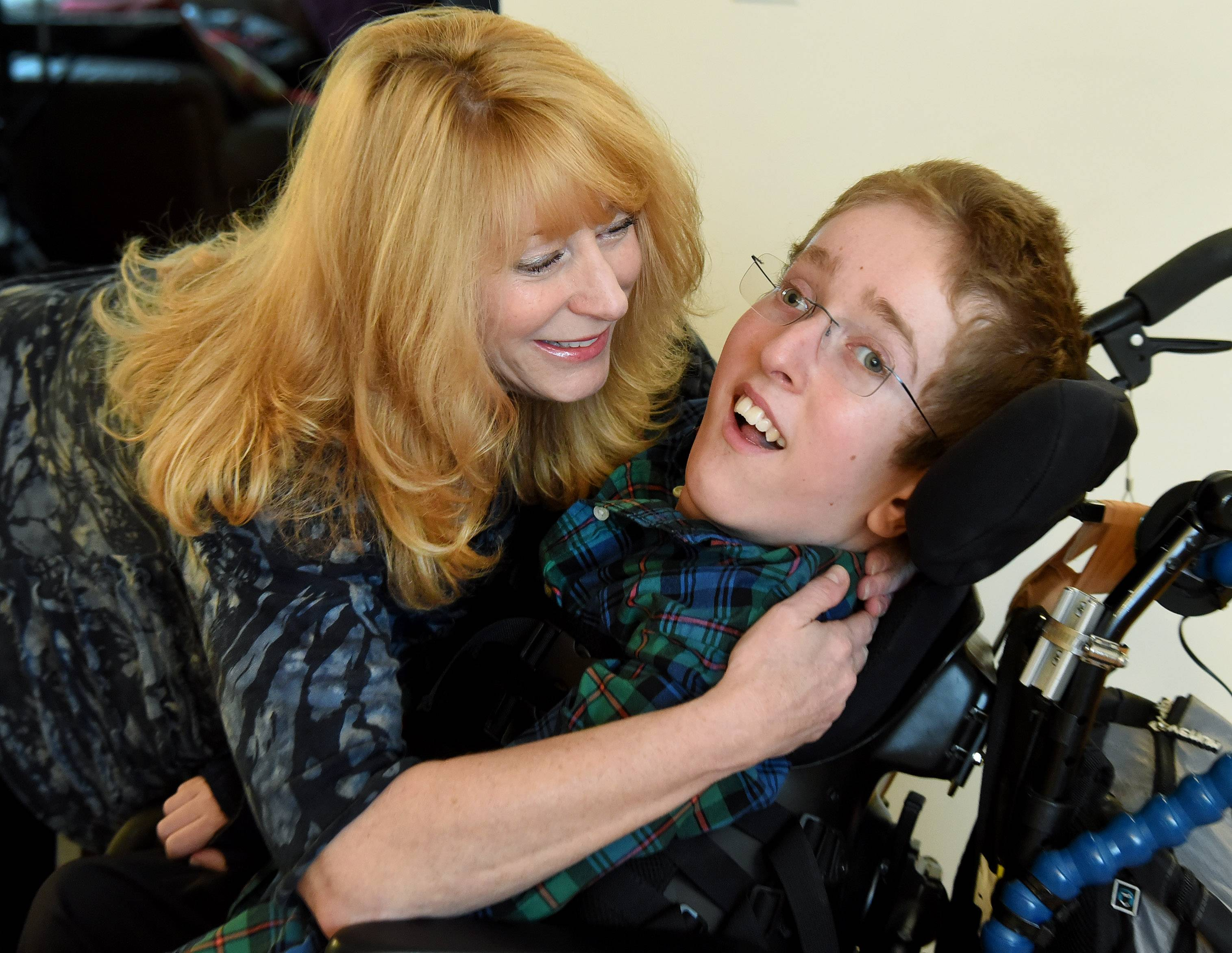 Ilyce Randell and her son Max Randell, who has Canavan disease.