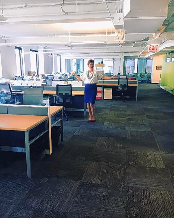 Founder and CEO of Henson Consulting, Kathleen Henson, a Wheaton native, stands in her empty office Thursday morning, the day after the Chicago Cubs won the World Series. In her case, she anticipated the historic moment and decided to give her staff some time to get into the office.