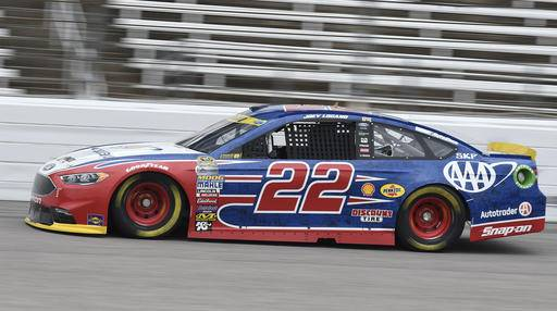 Charmant Sprint Cup Series Driver Joey Logano (22) Drives During Practice For A  NASCAR Auto