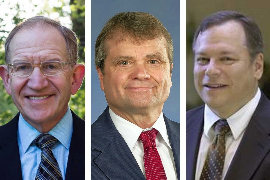 From left, Republican Vince Kolber, Democrat Mike Quigley and Green Party Rob Sherman are candidates for the 5th Congressional District.