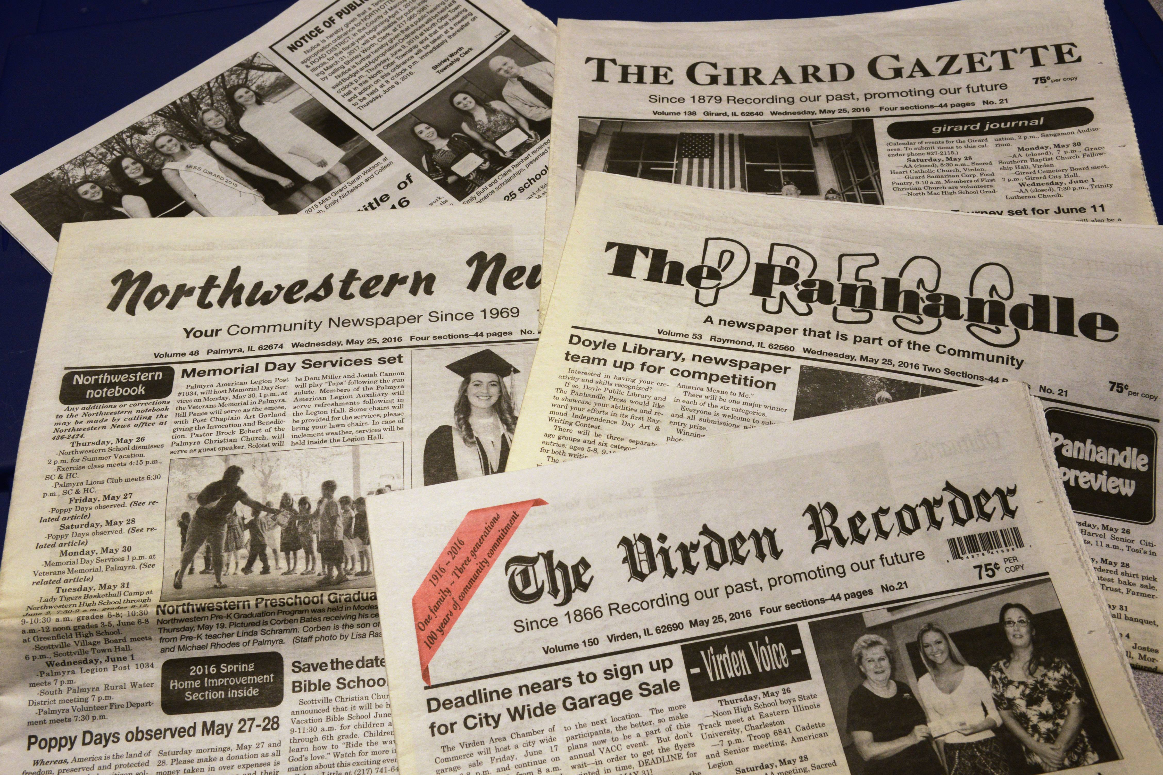 Paddock Publications to buy four newspapers in central Illinois