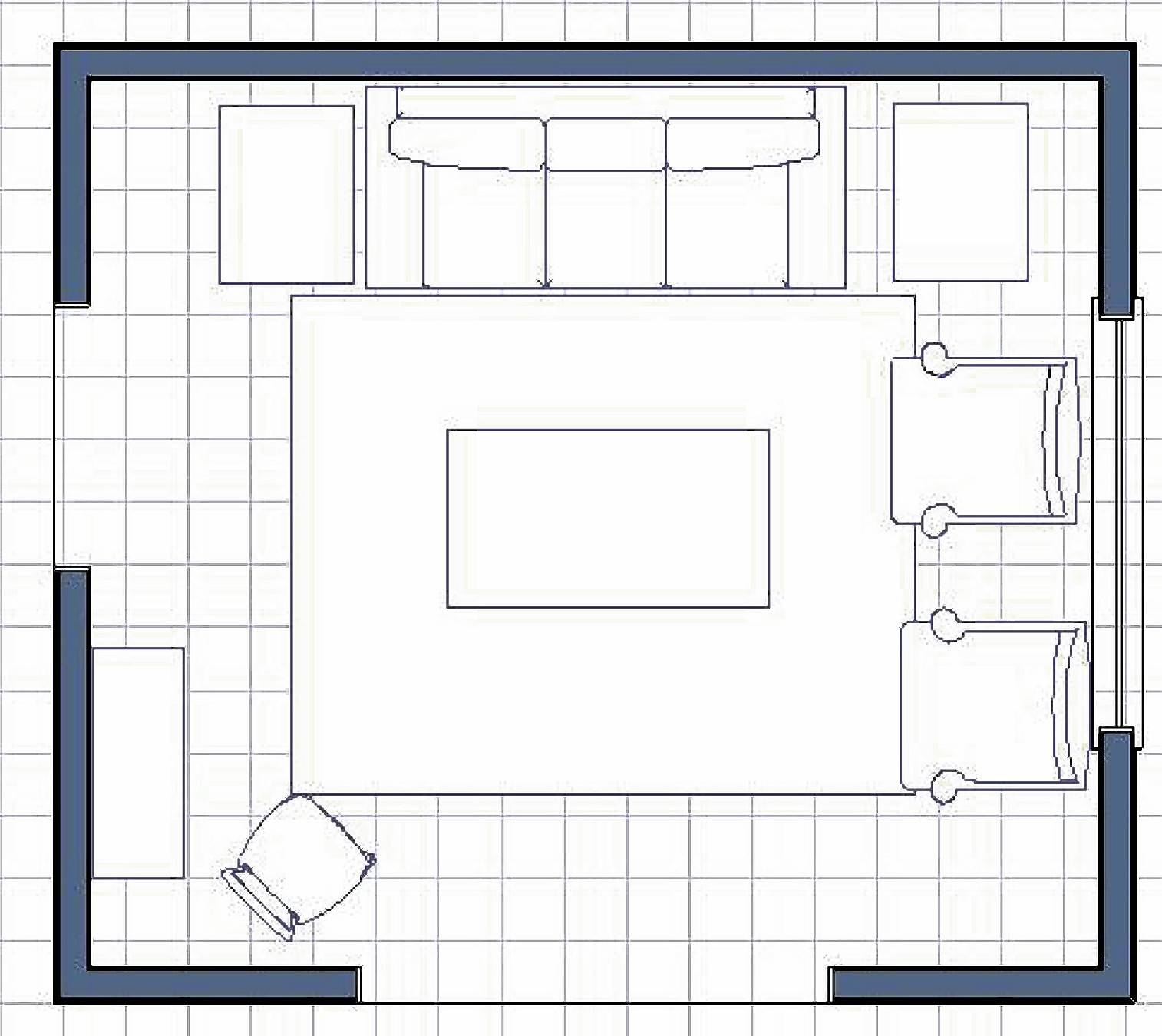 A Steinhafel's interior designer suggests this room layout for the Flynn family.