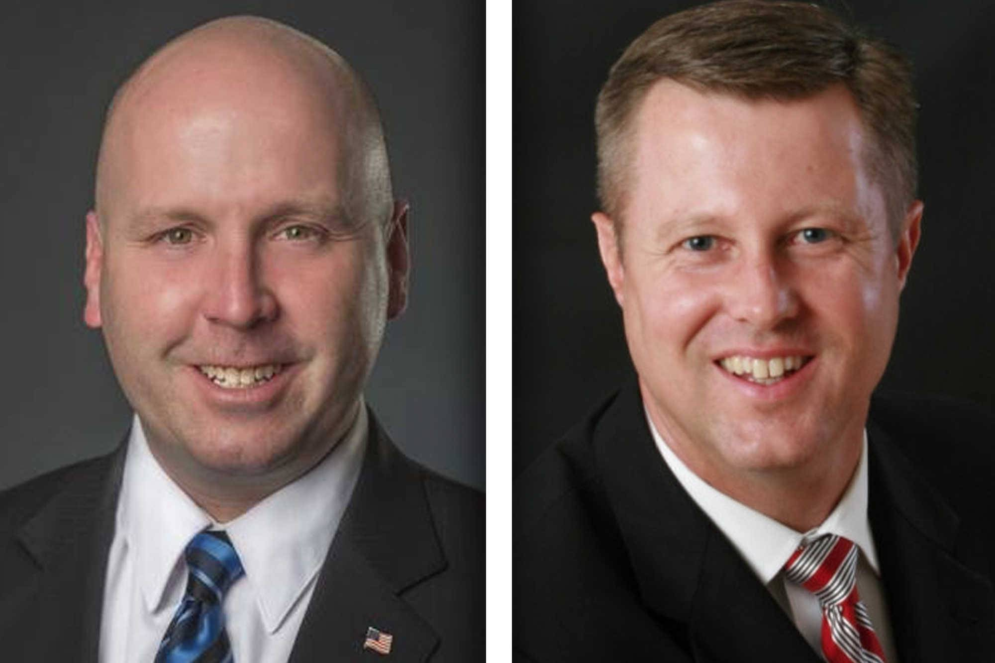 Democrat Thomas Cullerton, left, and Republican Seth Lewis are candidates in the 23rd Senate District.