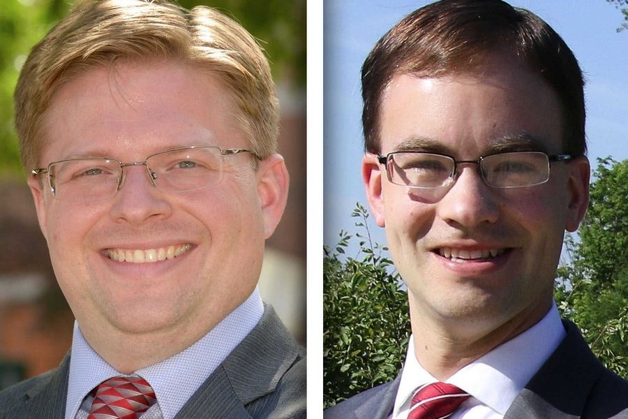 Democrat Greg Hose, left, and Republican David Olsen.