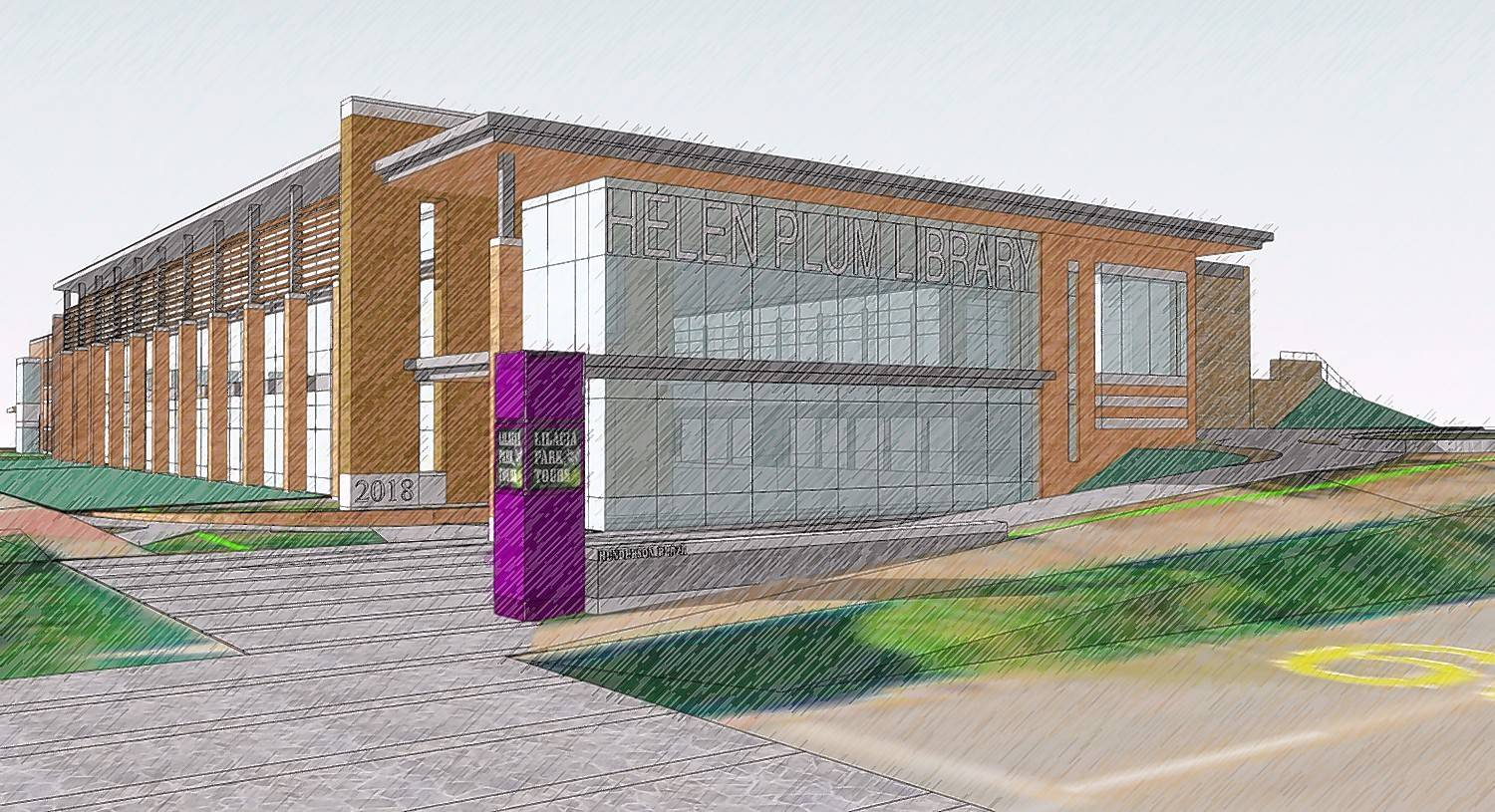 A new $22.3 million Helen Plum Memorial Library is one of three improvements for which DuPage County voters in various taxing bodies approved property tax increases during Tuesday's election. Voters also said OK to tax increases for the Bloomingdale Park District and Salt Creek Elementary District 48.