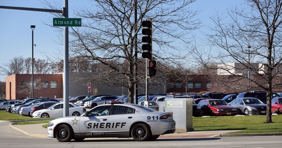 "Authorities said the Lake County sheriff's office was called to Warren Township High School's Almond Road campus in Gurnee as a precaution Thursday. About 150 to 200 students gathered in a hallway near library to discuss diversity and respect in response to ""White's Only"" graffiti found on a bathroom door. A protest occurred outside."