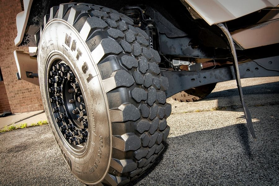 "The ""run-flat"" tires have enough rubber to keep the vehicle rolling even after a blow out."