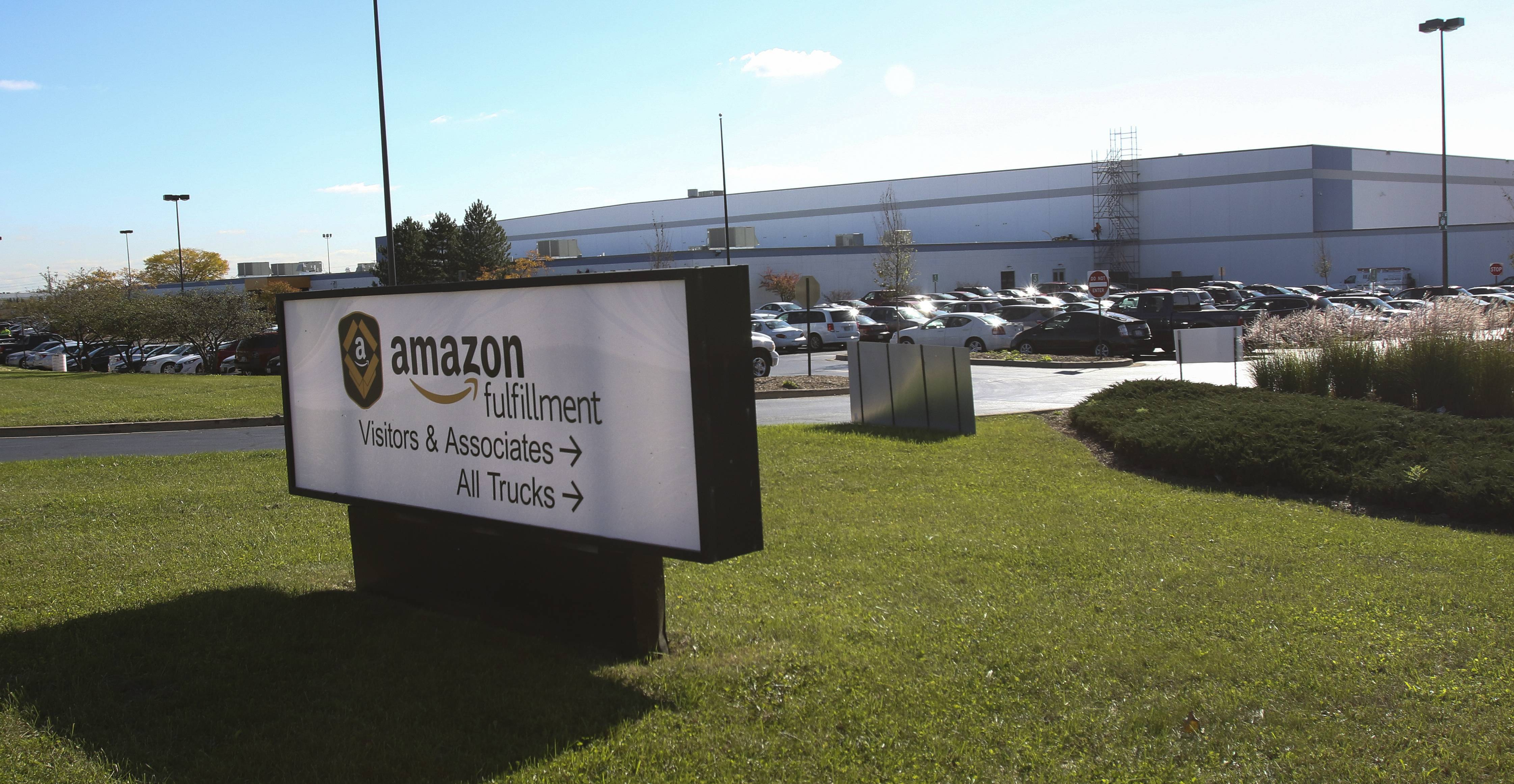 Amazon opened a distribution center in Romeoville in September.