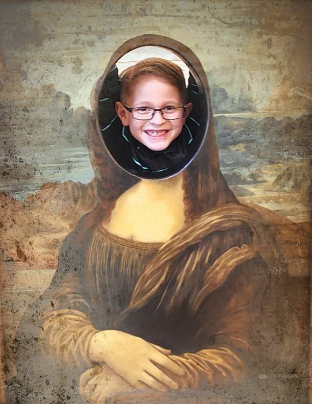 "Kids can become part of da Vinci's ""Mona Lisa."""