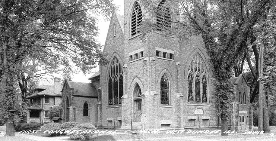 From 1901 to 2006, the First Congregational Church of Dundee was located at the corner of Fifth and Main streets in West Dundee.