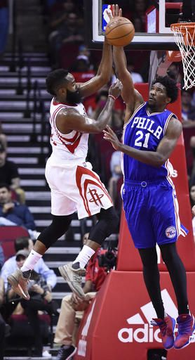 1021804ba95e Harden s big first propels Rockets over Sixers 115-88