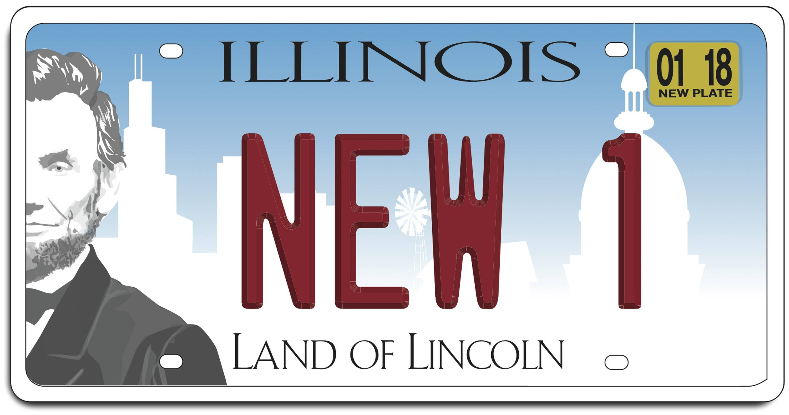 Newly redesigned Illinois license plates within state's budget