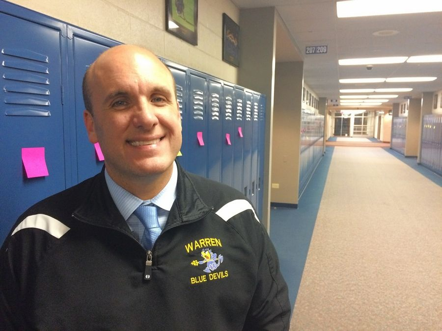 Warren Township High School Almond Road campus Principal Patrick Keeley said he's proud of students who answered racist graffiti by placing sticky notes with positive messages on 2,500 lockers.