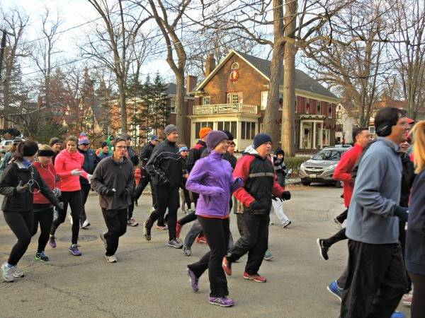The Glen Ellyn Turkey Trot challenges runners to predict their finish time with Thanksgiving-themed prizes for those closest to their estimates.