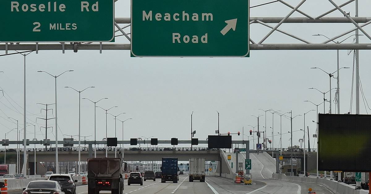 Meacham roselle ramps open on addams tollway what work for I 90 construction