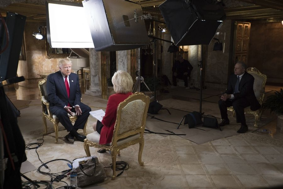 60 MINUTES Correspondent Lesley Stahl interviews President-elect Donald J. Trump at his home Nov. 11 in New York for his first post-election interview.