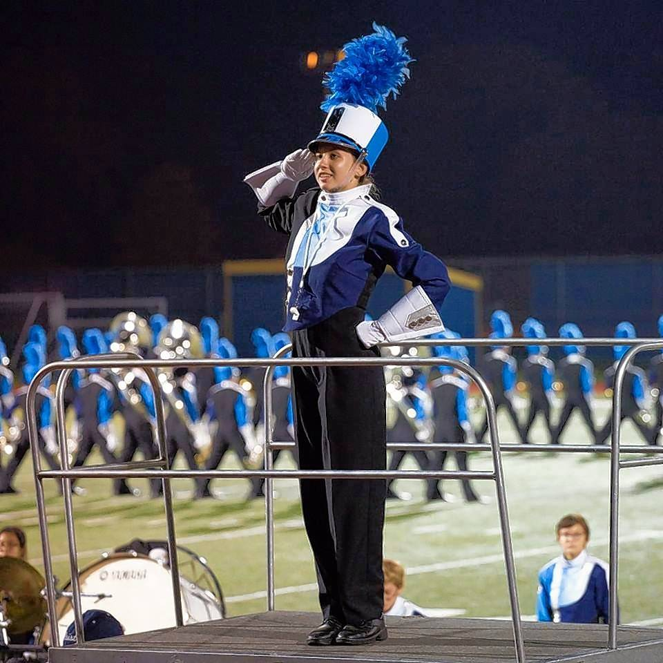 Prospect Marching Knights senior Drum Major Hannah Thornton of Mount Prospect was announced Tuesday as the one band member in the Macy's Thanksgiving Day Parade to win the Bob Hope Band Scholarship.