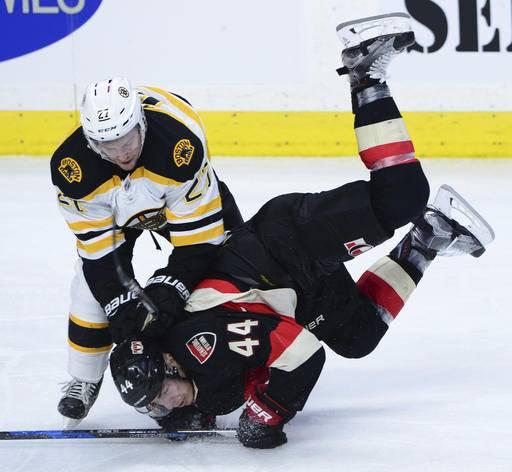 Wideman, Turris Score In Third, Senators Beat Bruins 3-1