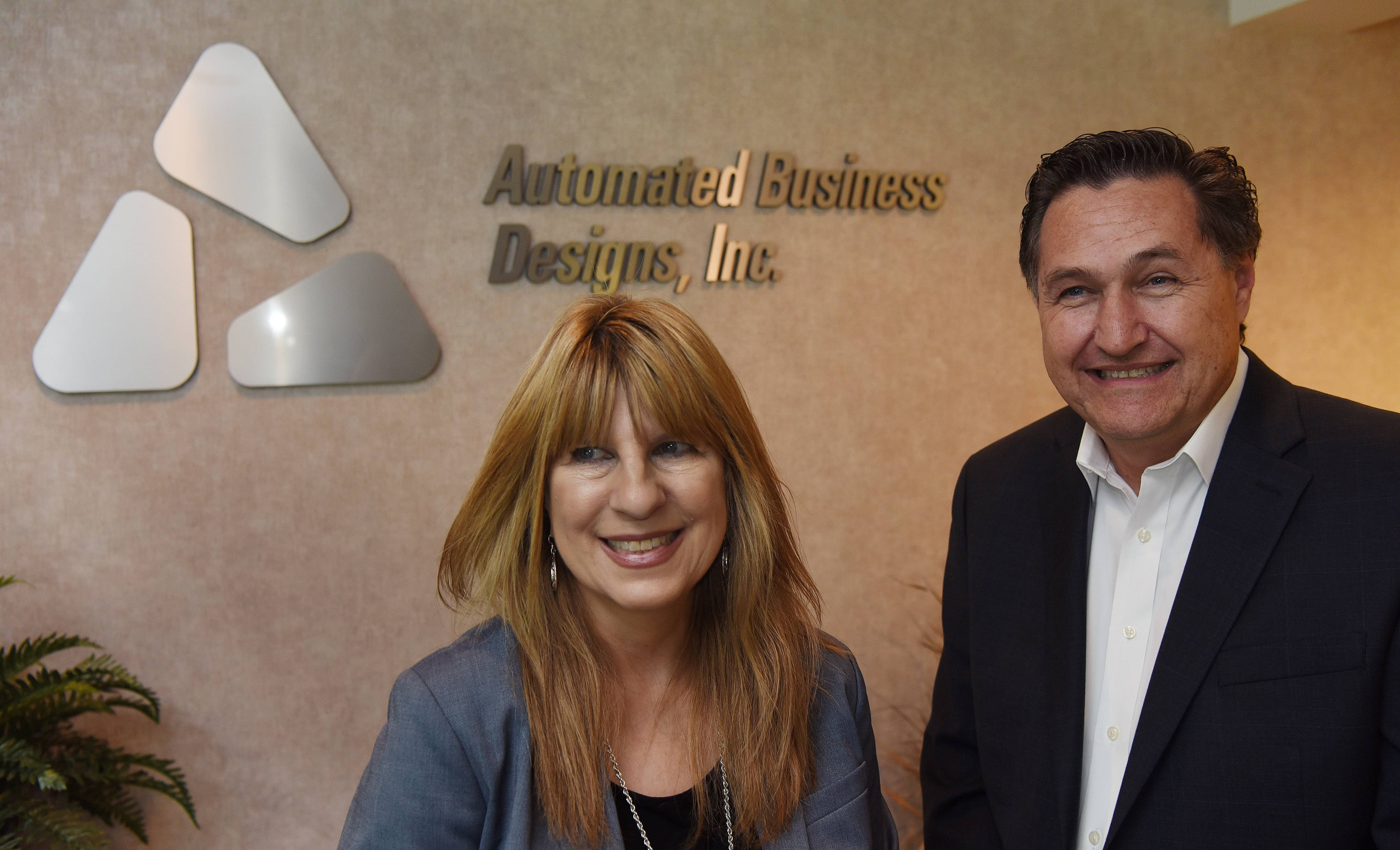 Terri and John Roeslmeier are the owners of Automated Business Designs in Rosemont, which is celebrating 33 years as an IT company focused on the staffing industry.