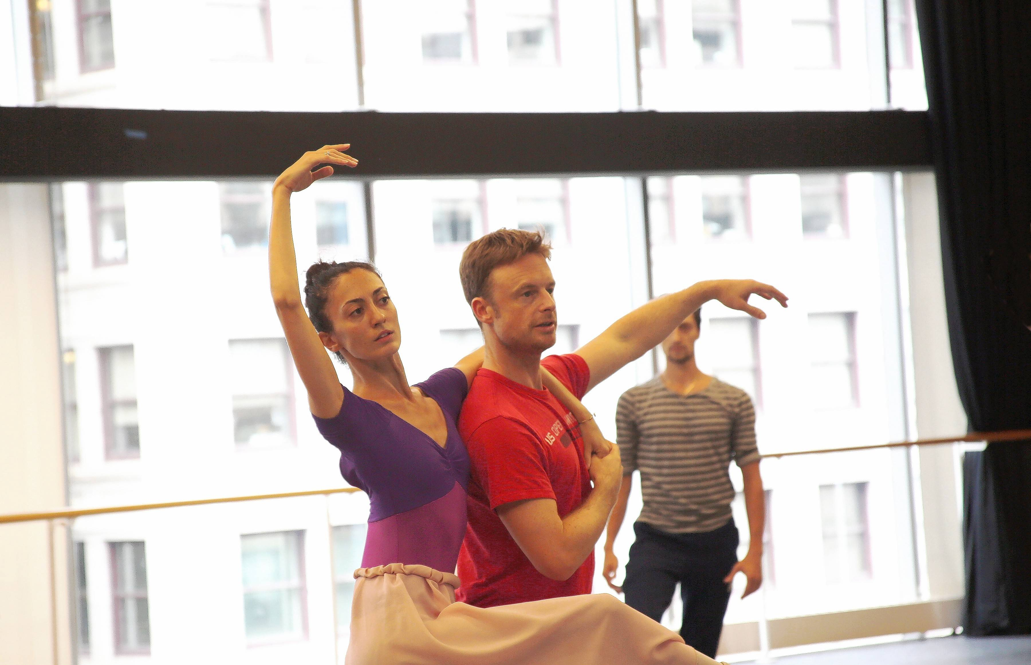 "Dancers rehearse for Joffrey Ballet's new production of ""The Nutcracker,"" choreographed by Christopher Wheeldon, center. It runs Dec. 10-30 at Chicago's Auditorium Theatre of Roosevelt University."