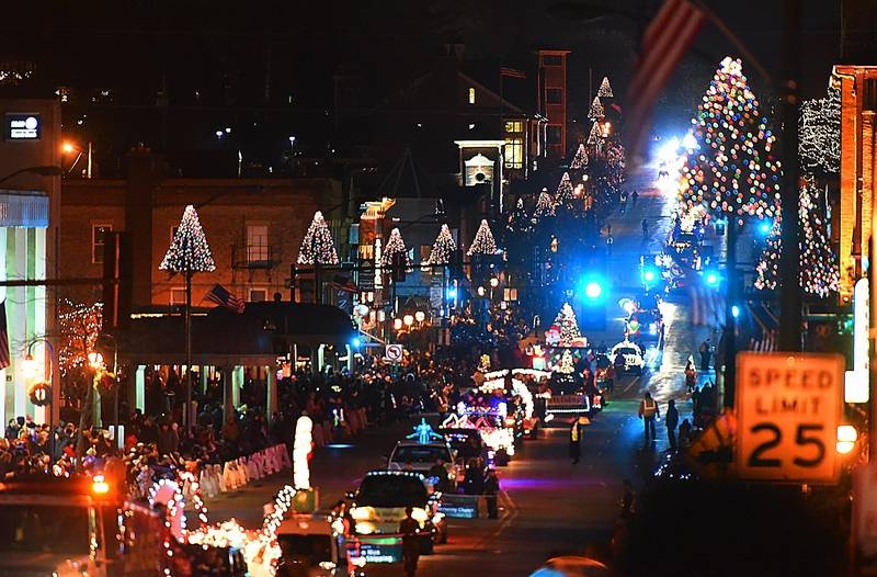 St Charles Holds Electric Christmas Parade