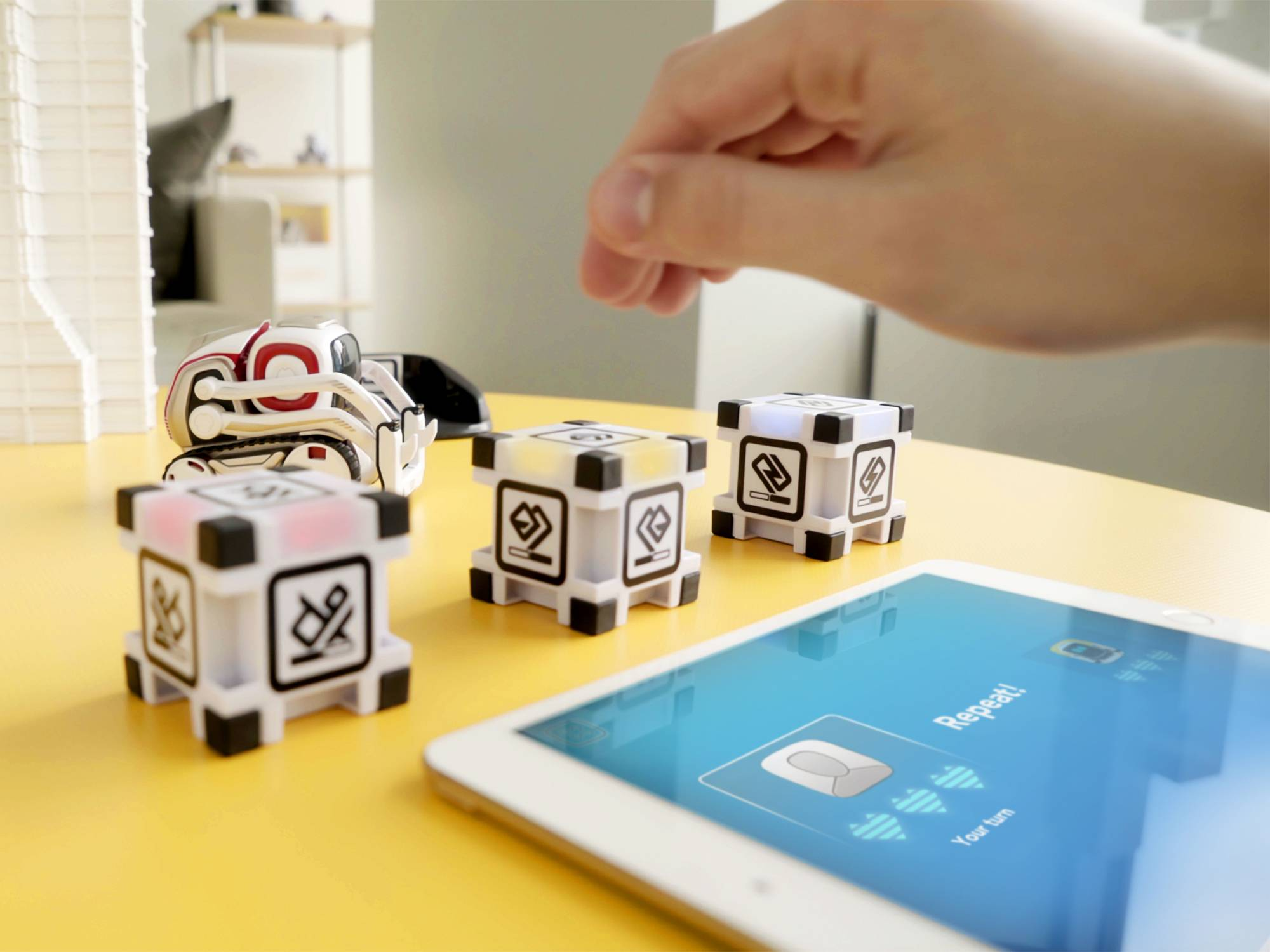 The Cozmo Memory Match game is both educational and fun for the kids.