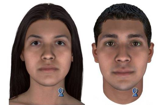 These images of what Baby Hope's mother and father may look like at age 25 were released in October.