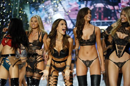 aa315dfe2 Models display creations during the Victoria s Secret Fashion Show inside  the Grand Palais