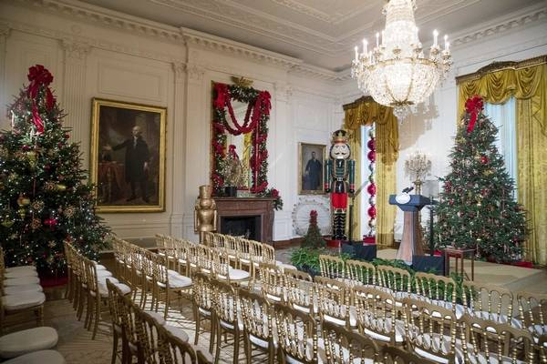 associated press photosthe east room is decorated at the white house during a preview of the