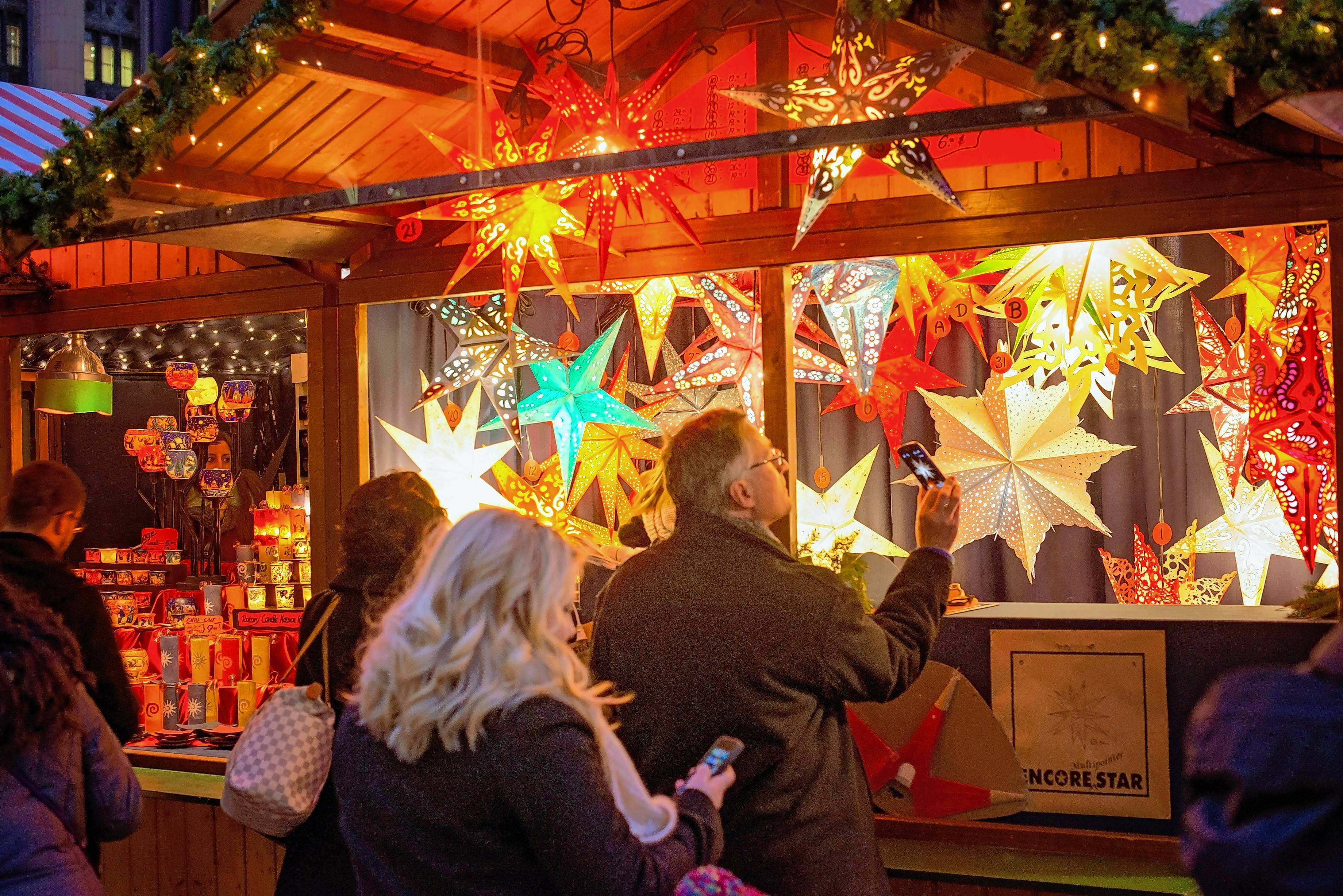 The suburban Christkindlmarket has moved this year to Naper Settlement in Naperville.