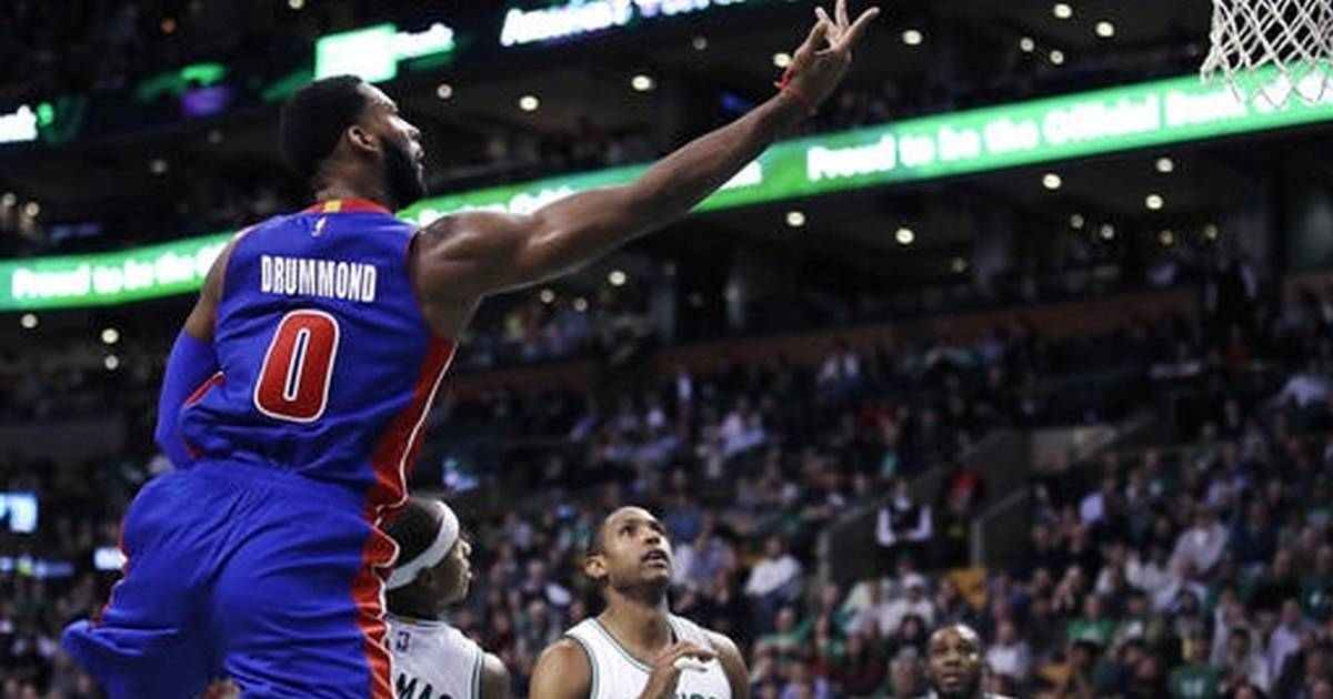 Pistons' Andre Drummond returns to team activities ...  |Andre Drummond Pistons Dunk