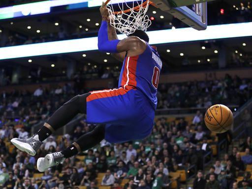 Andre Drummond of the Detroit Pistons dunks the ball ...  |Andre Drummond Pistons Dunk