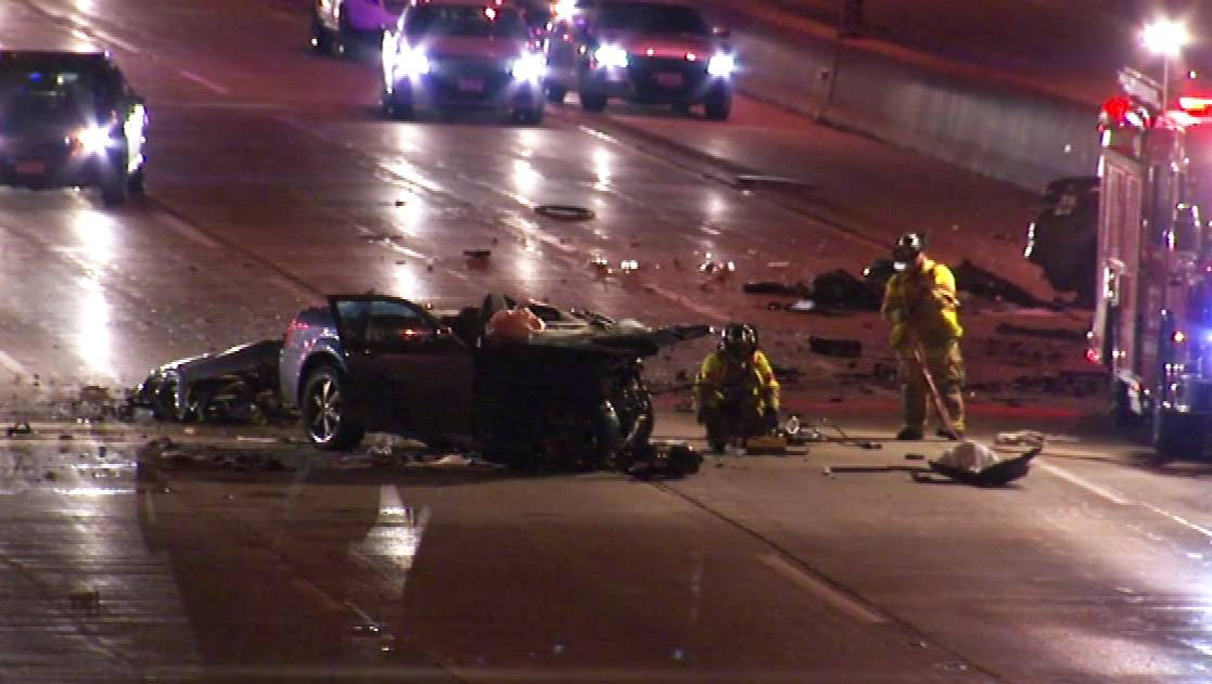 Three people were killed early Friday morning on I-88 in Naperville when an Elgin man apparently drove east in the westbound lanes and struck another vehicle head-on.