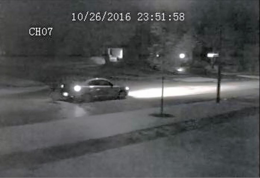 A surveillance photo shows a vehicle from which police say BB gun shots were fired Oct. 26 in the 2400 block of North Evergreen Avenue.