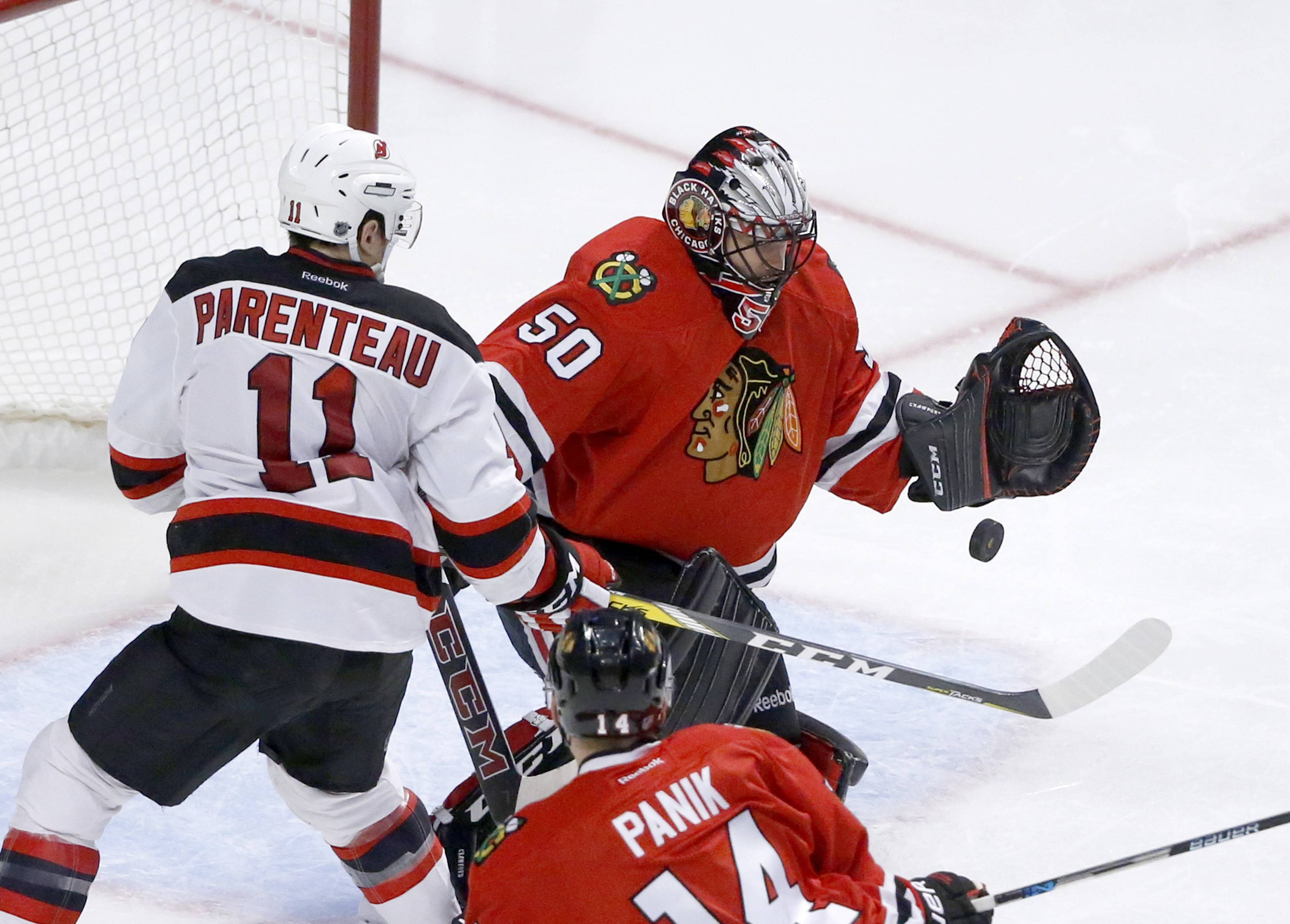 Blackhawks goalie Corey Crawford had an appendectomy Saturday morning and could miss seven to 10 games