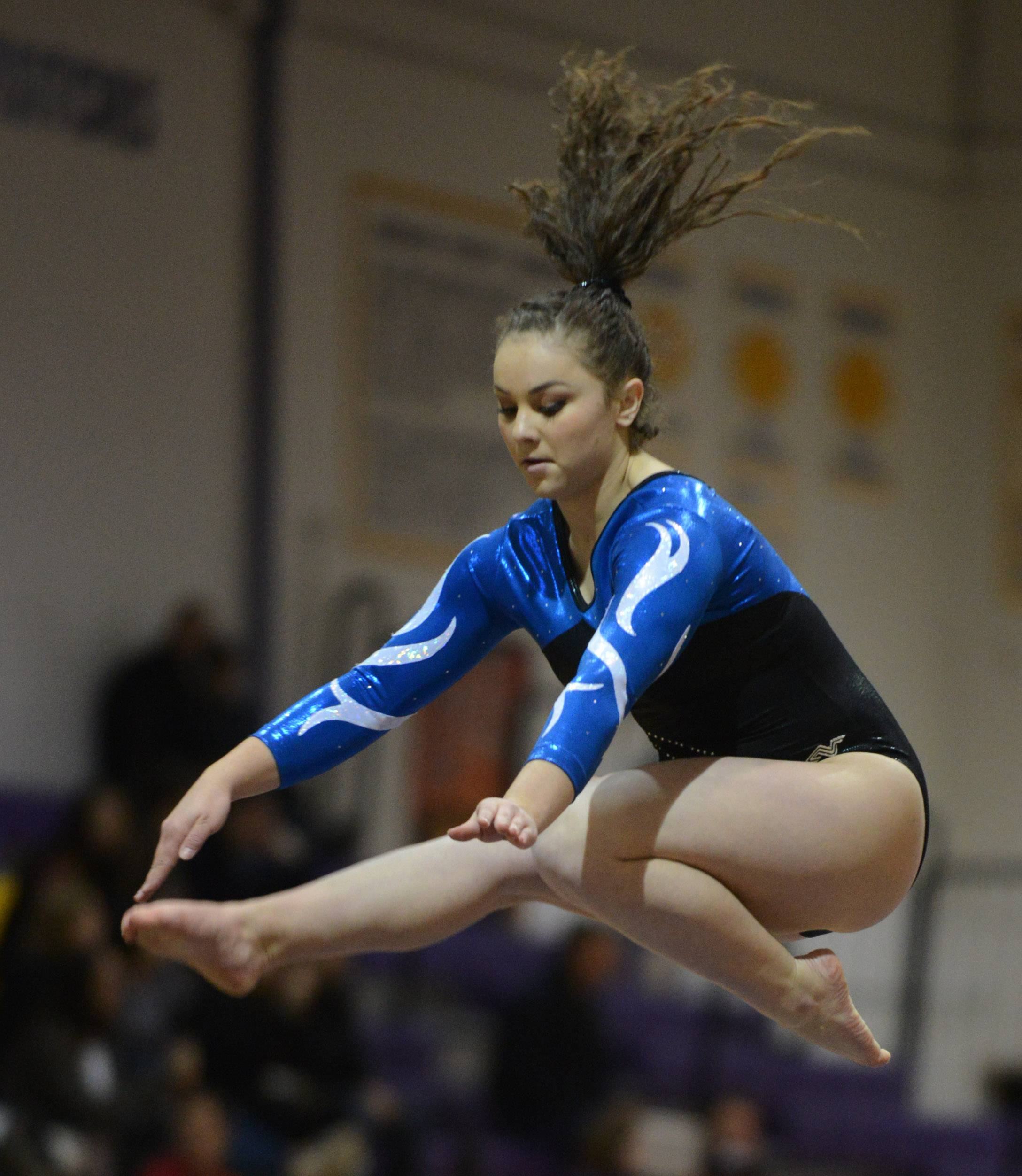 Lake Park's Katie Fetter competes on the balance beam during the Rolling Meadows invitational Saturday.