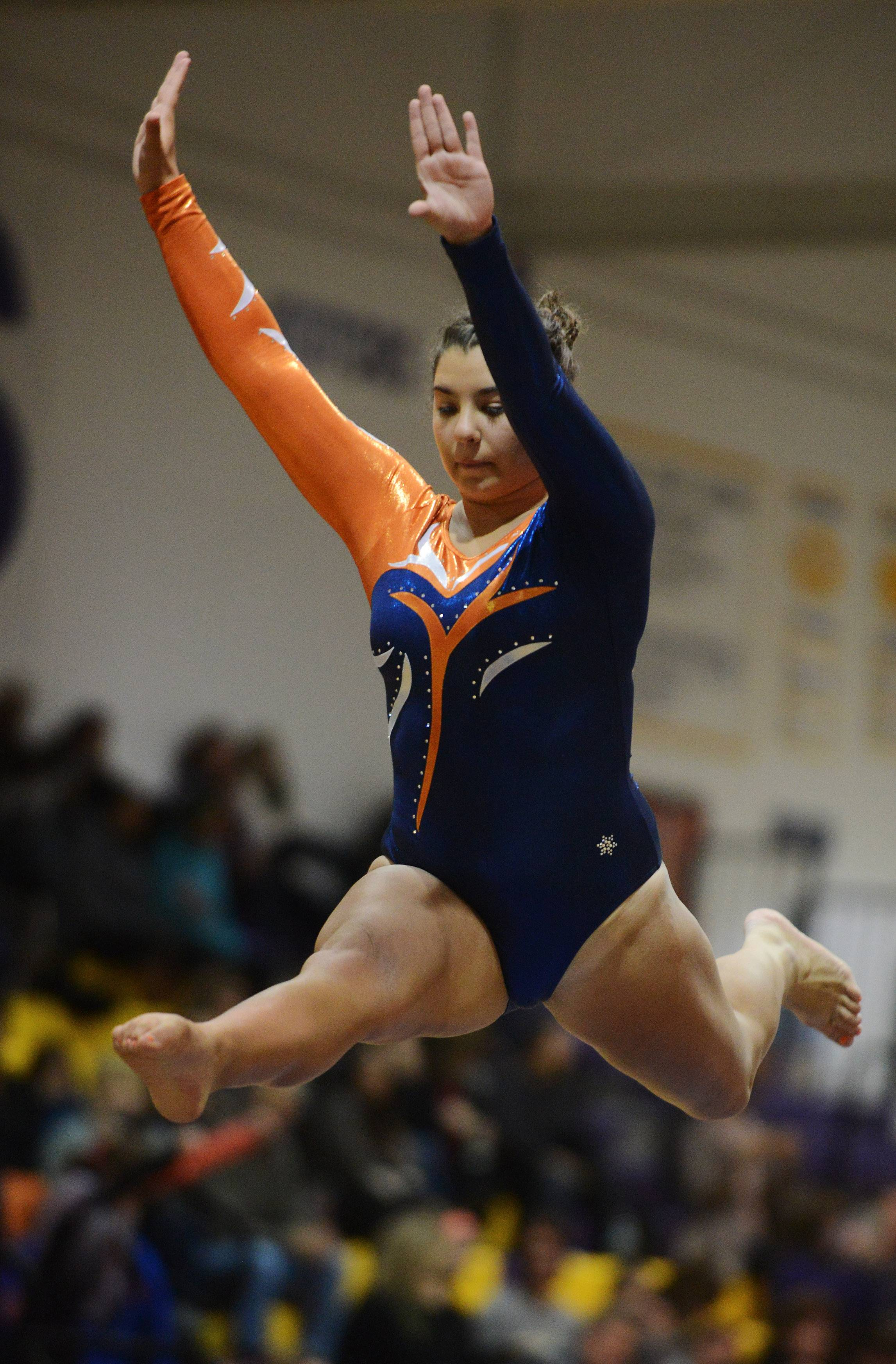 Buffalo Grove's Melanie Goldfarb competes on the balance beam during the Rolling Meadows invitational Saturday.