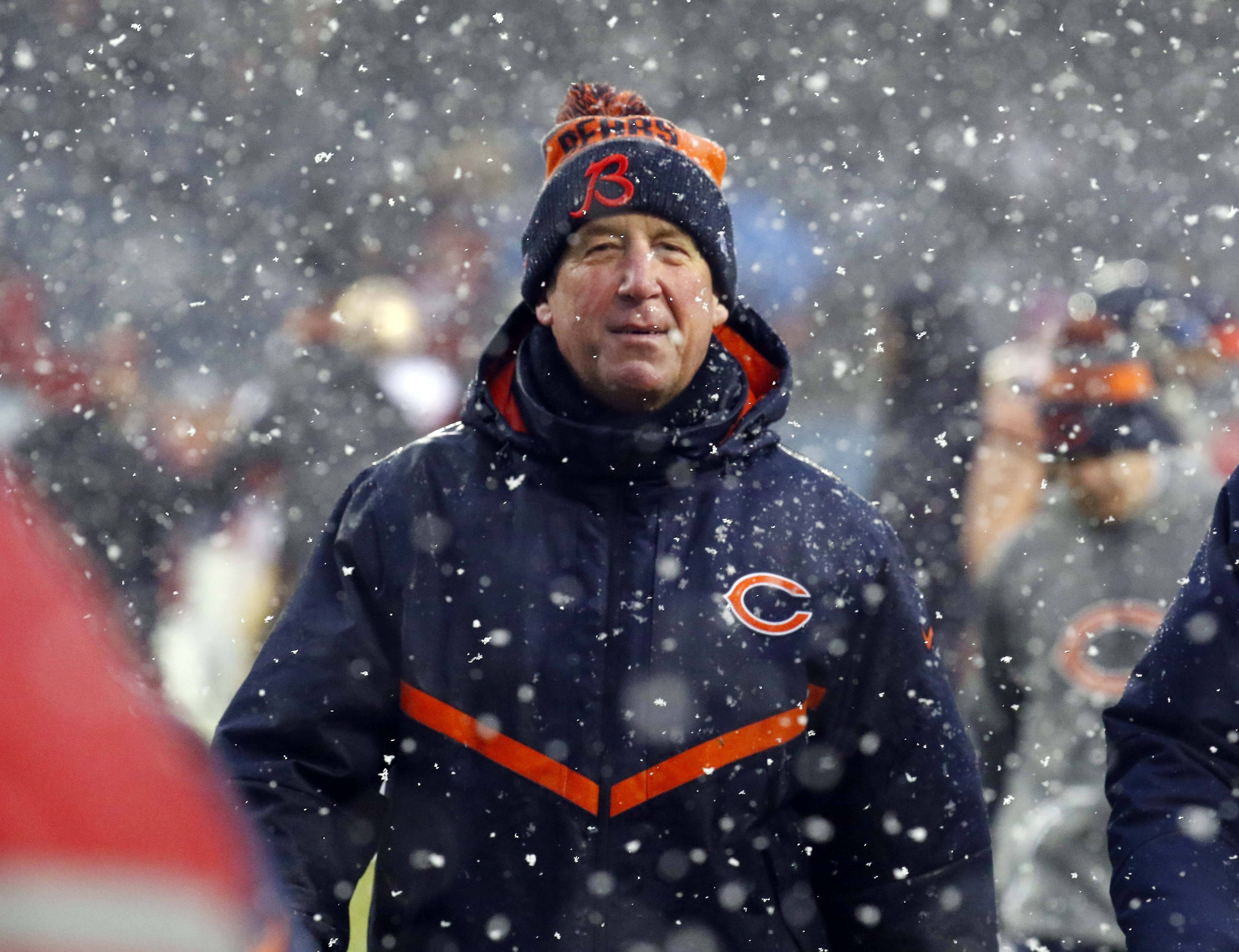 Chicago Bears John Fox Sunday at Soldier Field in Chicago.