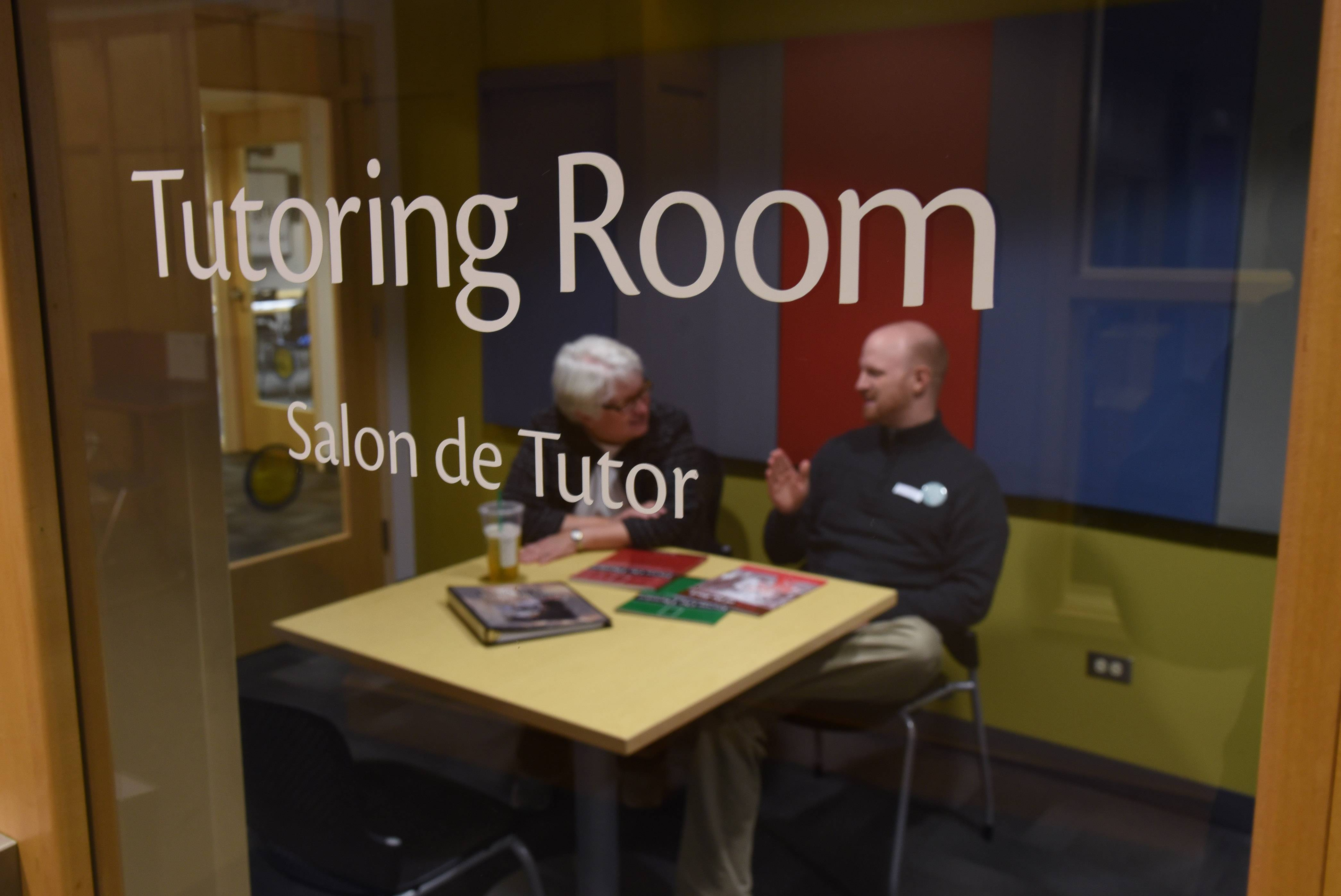 One of the tutoring rooms in the lower level of the Waukegan Public Library.