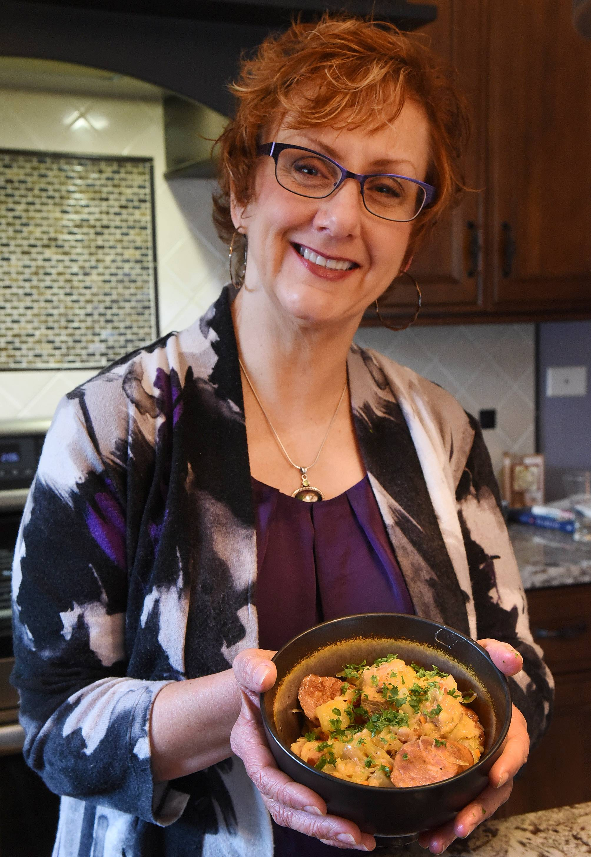 Theresa Salgado puts her own spin on the Polish food she grew up eating with her flavorful Stovetop Porky Kraut dinner.