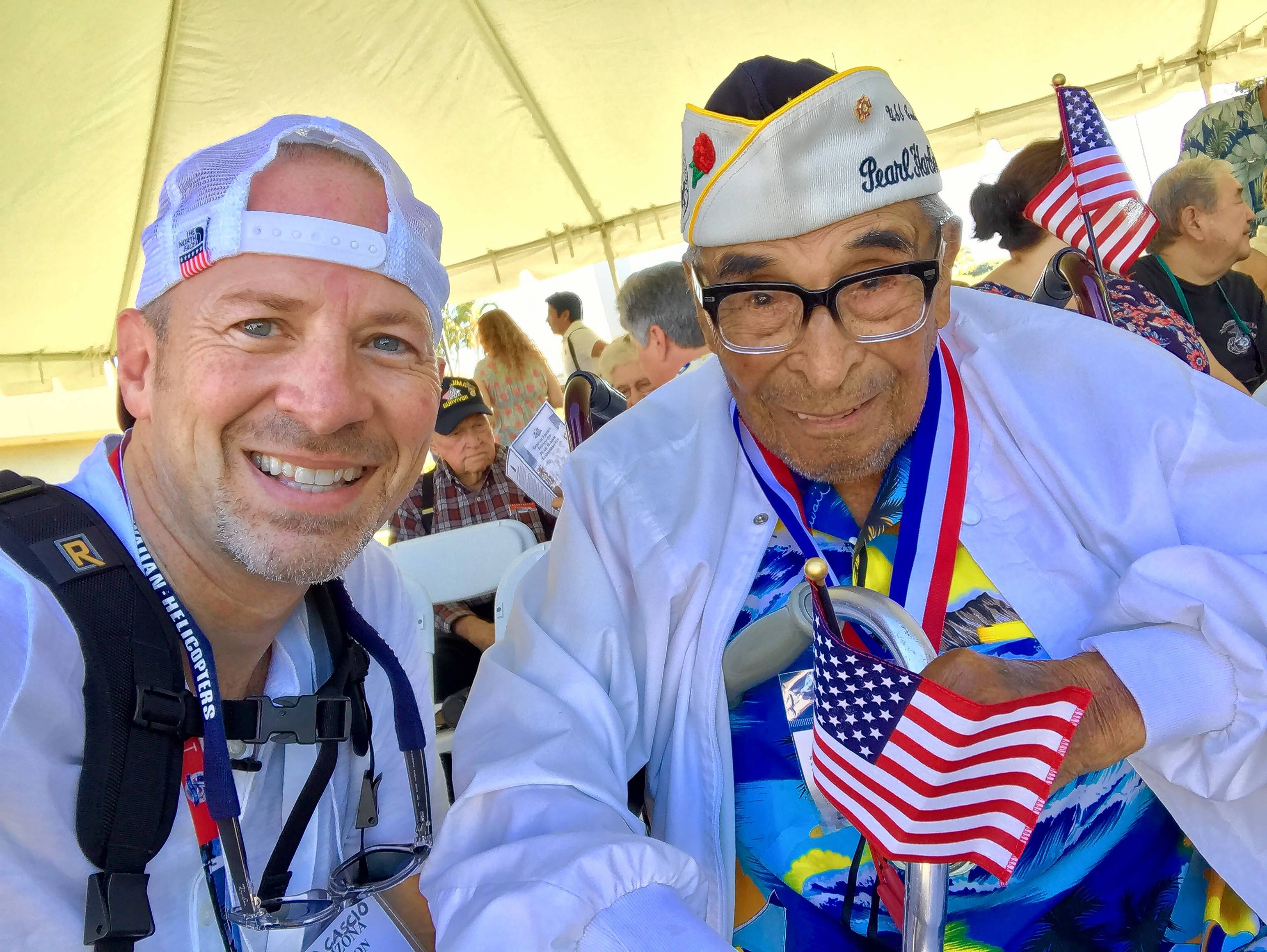 As the only photographer invited to exclusive events this week at Pearl Harbor, Paolo Cascio of Schaumburg meets Ray Chavez, who, at age 104, is the oldest survivor of the attack on Pearl Harbor on Dec. 7, 1941. Chavez was on the base at the time of the attack.