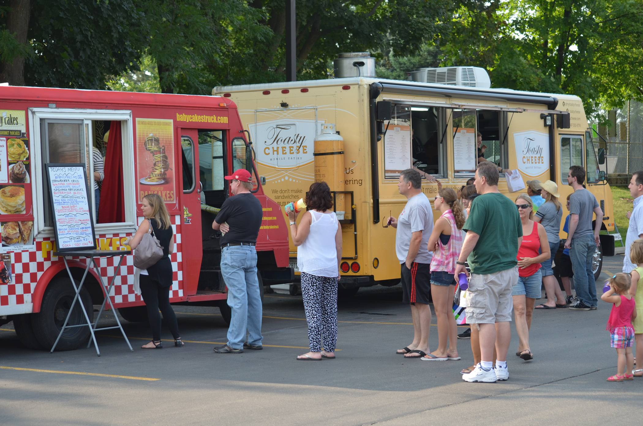 North Aurora has adopted regulations for food trucks, such as these pictured at an event in Palatine.