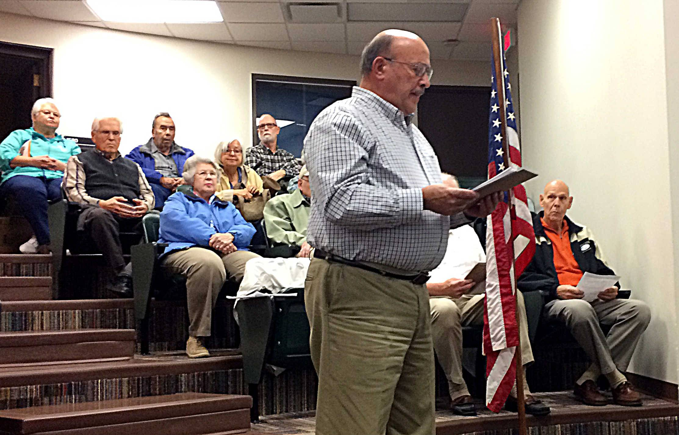 Paul Bernardoni, a resident of Carillon North in Grayslake, says he and many in his subdivision are unhappy with tax levy increases for next year approved Thursday night by the boards of Grayslake High District 127 and Grayslake Elementary District 46. Here, Bernardoni speaks about tax concerns to the District 127 board in October.
