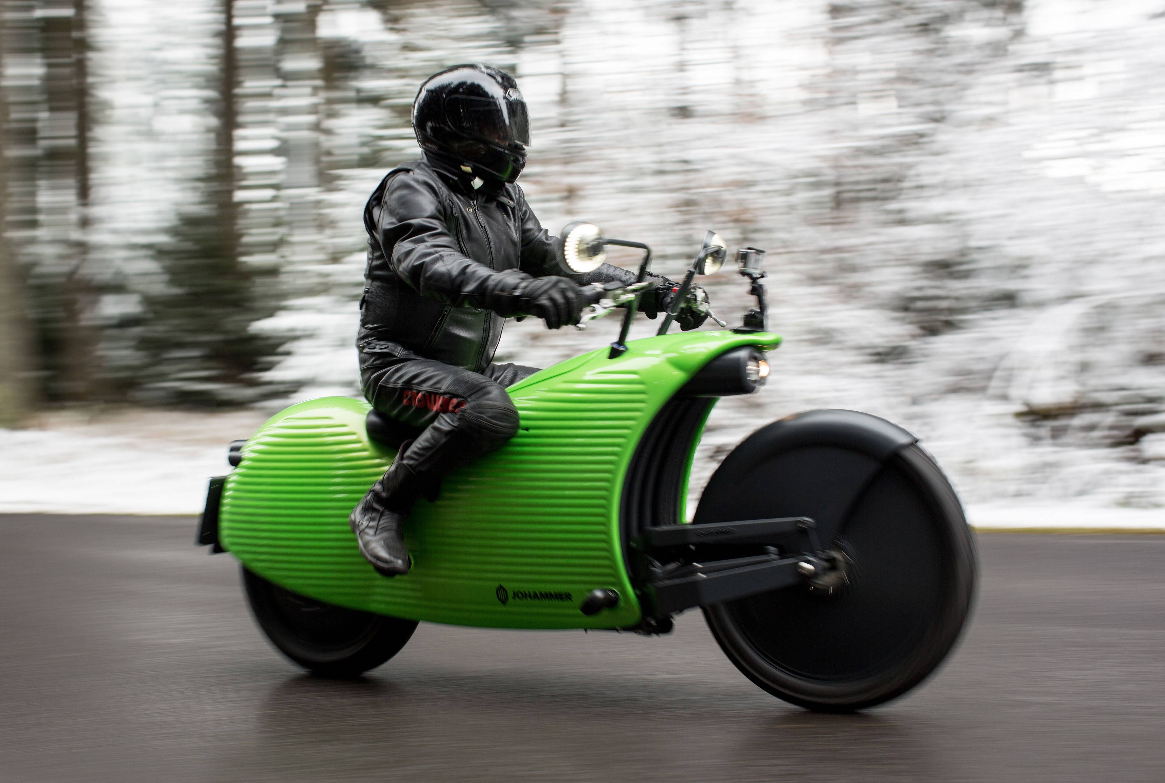 A Johammer electric motorcycle in Bad Leonfelden, Austria, on Nov. 8, 2016.