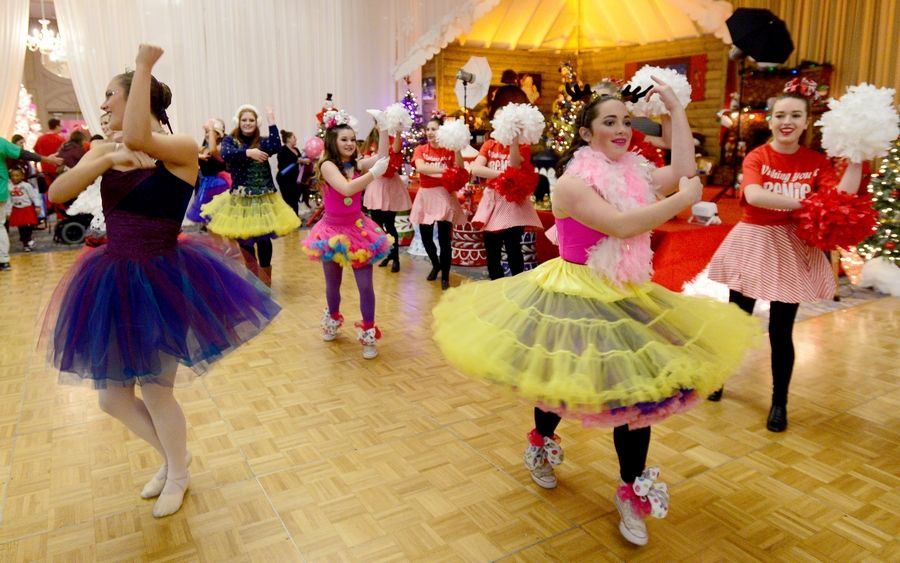 Dancers from Dance Werks in Barrington entertain at the annual Operation North Pole Christmas Party for seriously ill children and their families Saturday at the Donald E. Stephens Convention Center in Rosemont.